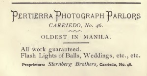 Pertierra advertisement at Carriedo location-1901.