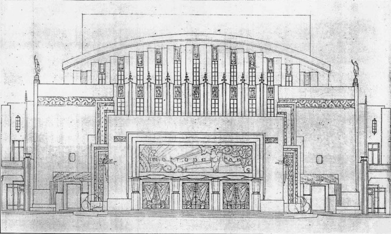 Metropolitan Theater Architectural Drawing