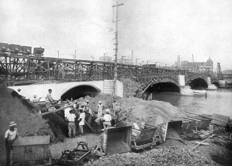 Jones Bridge under construction, c.1920