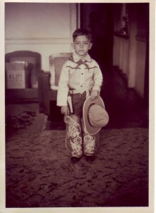"Cowboy ""Lou"" at Tennessee apartment - 1950"