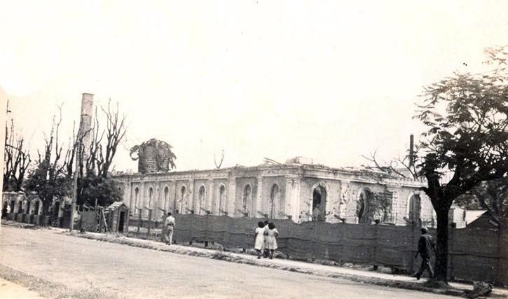 Manila Obs-Ateneo ruins-1945