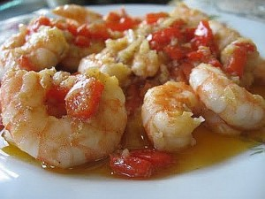 Gambas al ajillo - Garlic prawns in oiive oil