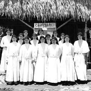 Maryknoll Sisters interned at Los Baños Camp-1942