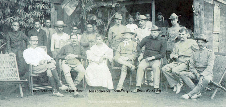 Otto Scheerer & Dean Worcester in Baguio-1901 (photo courtesy Dick Scheerer)
