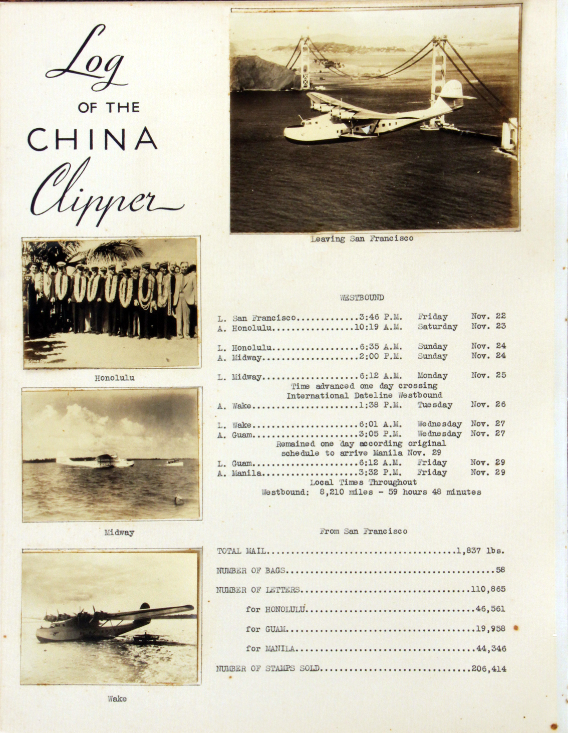 PanAm Clipper-Flight Log