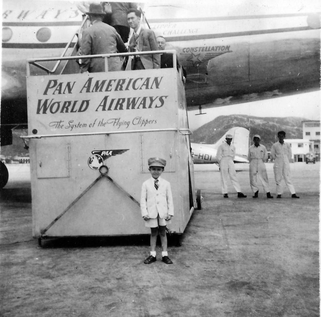 Lou by PanAm plane-1950