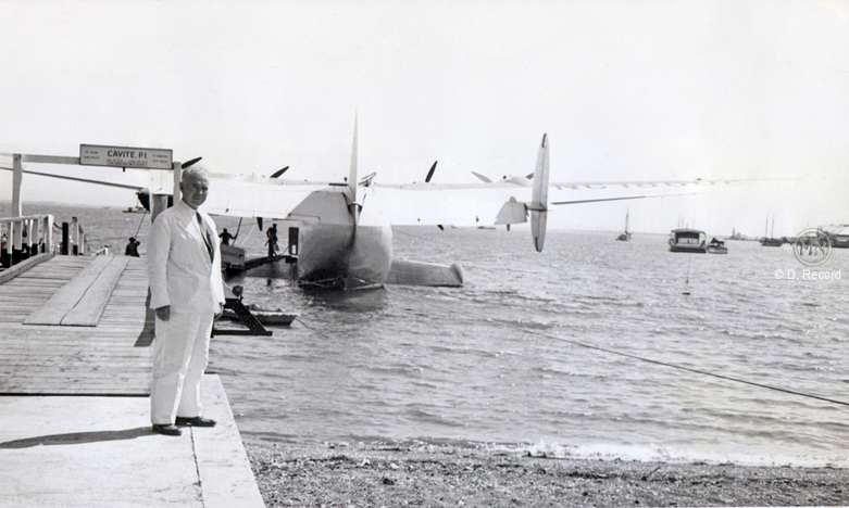 S. Davis Winship at Cavite dock with Clipper-1939 (courtesy of D. Record)
