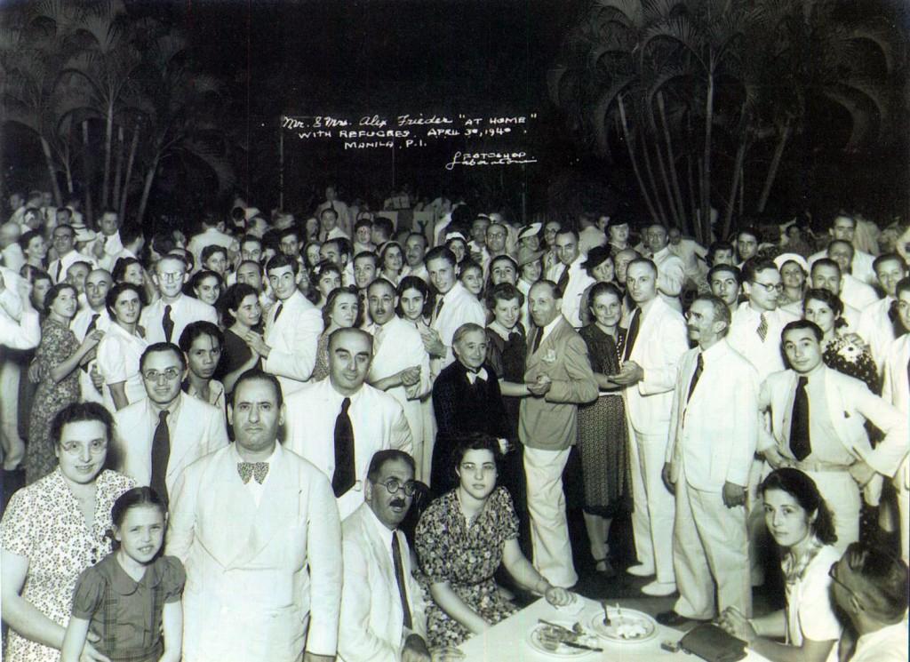 Alex Frieder with Jewish Refugees-1940