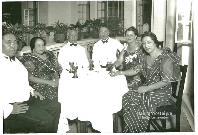 Consul Gustav A.Sakowsky (middle) with Osmeña on the left.
