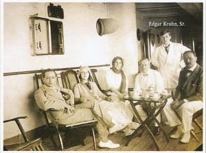 Edgar Krohn Sr (standing) onboard-1913