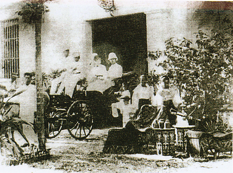 Consul Tannert and his wife in front of the Consulate-1890