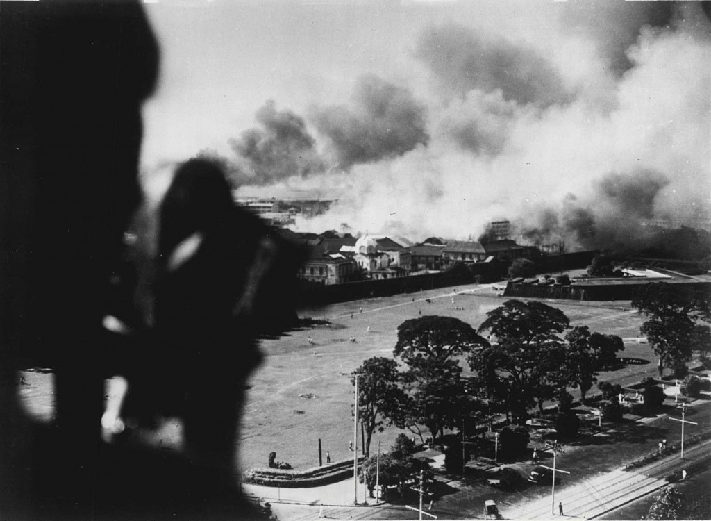 Japanese bomb Intramuros - Dec. 1941