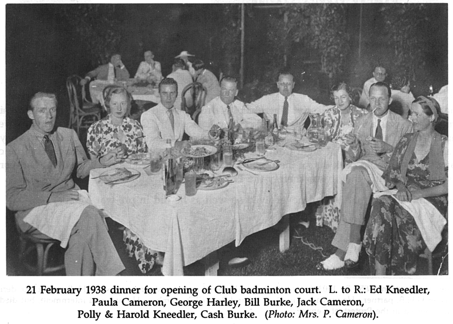 Manila Club dinner-Opening of badminton court-1938