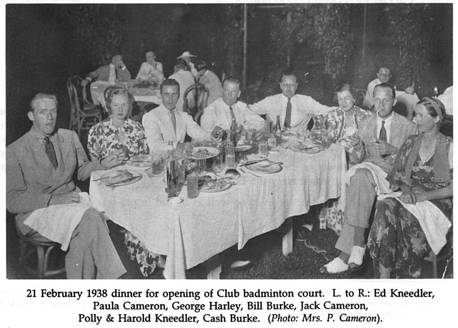 Manila Club dinner-Opening of badminton court-1938