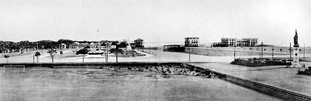 Looking at the Luneta with the Elks Club and Army Navy Club recently built, c.1914 (Courtesy J.Tewell)
