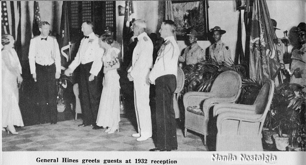 Commanding General of the Philippine Dept. John L. Hines at his retirement party - 1932
