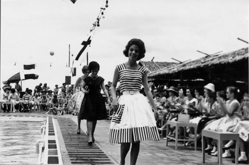 Lea Bowie at the 1962 Fashion Show (courtesy Lea Bowie)