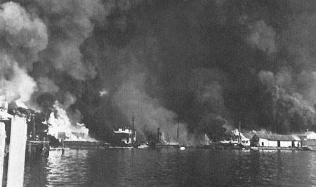 Cavite Naval Yard bombed