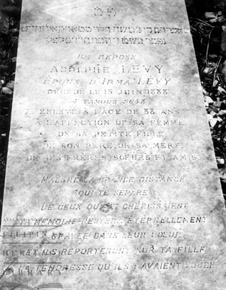 Adolphe Levy tombstone