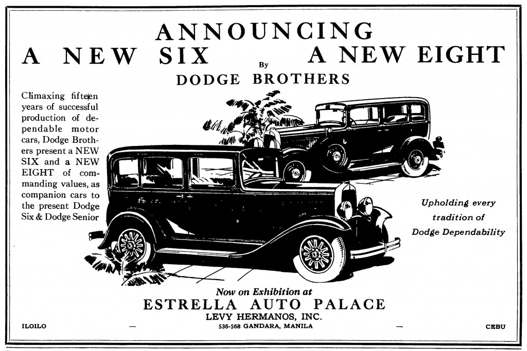 Dodge Eight ad-Estrella Auto Palace-Apr1930