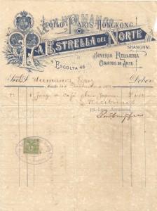 Estrella del Norte receipt 1908-Vicky Lopez