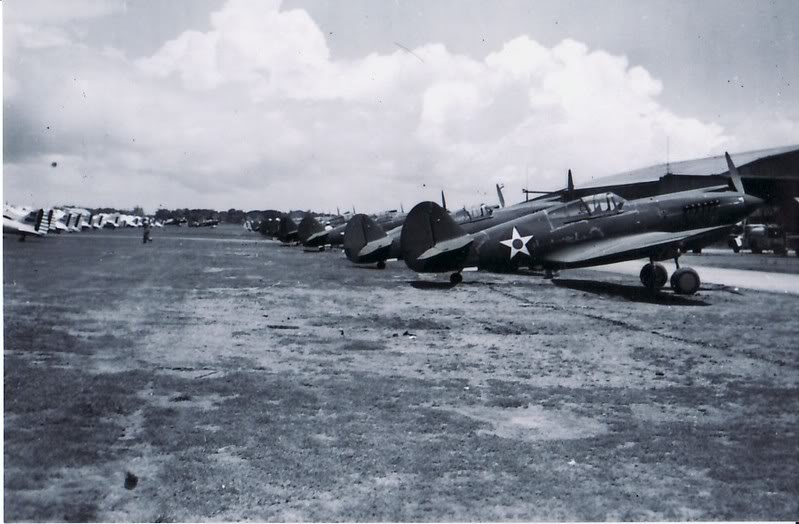 Clark AFB Fighters parked- 1941