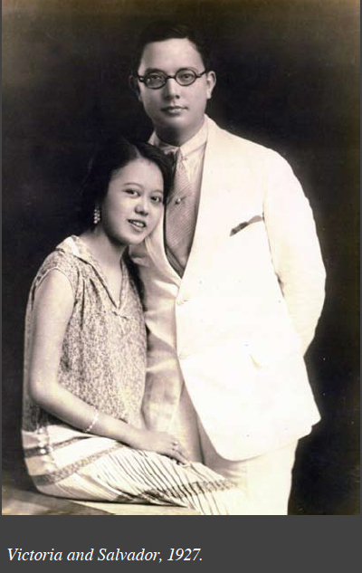 Victoria Lopez and Salvador Araneta