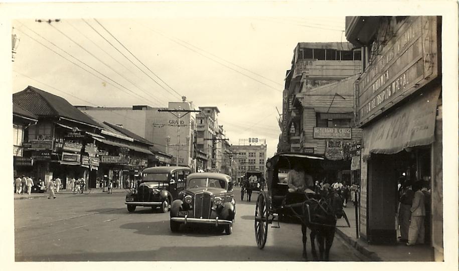 Rizal Ave. corner Soler -1938