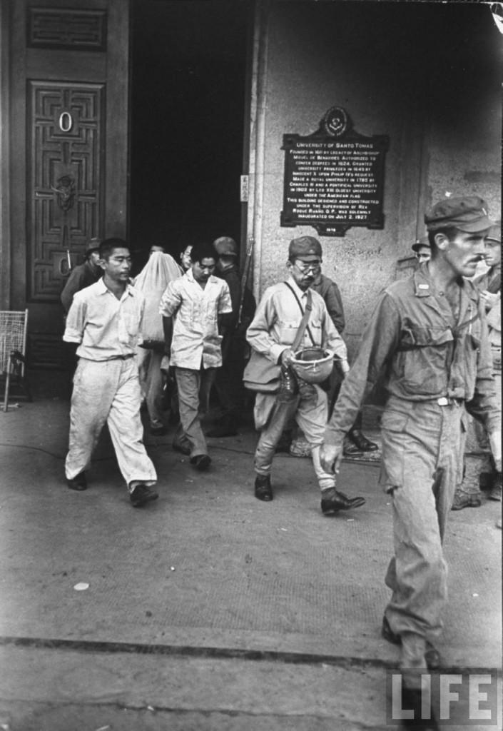 Ed Bldg- Japs released after negotiated surrender.