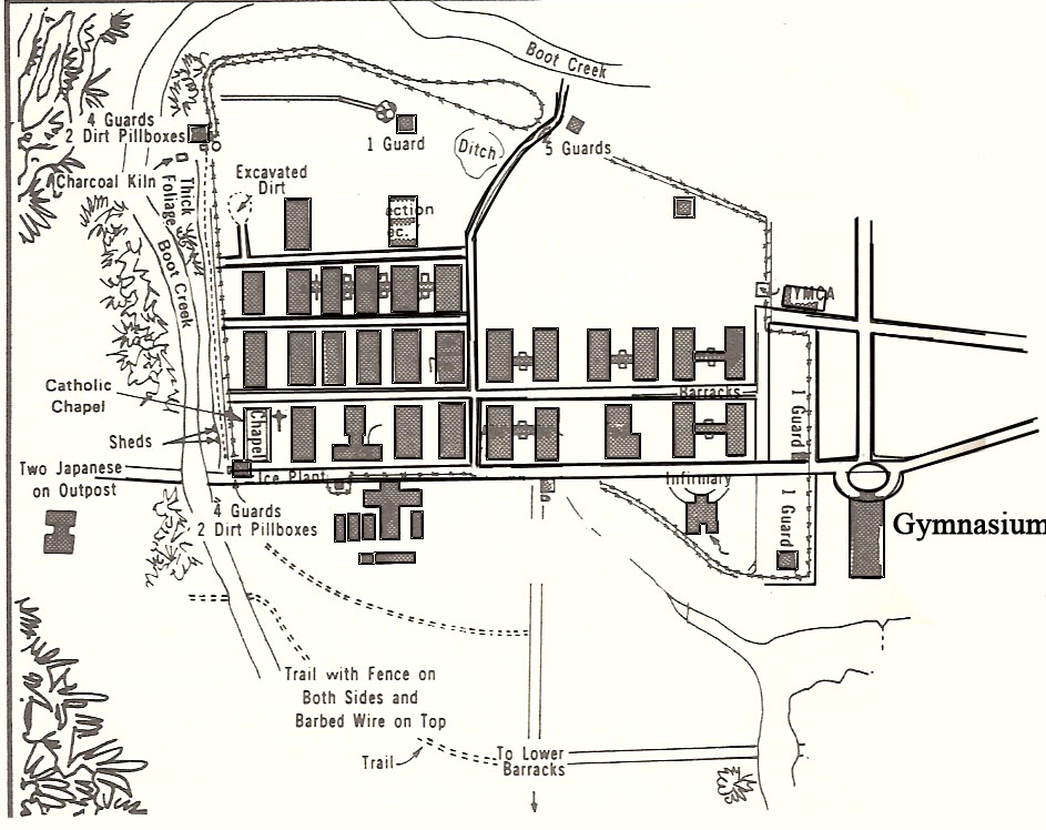 Map of the Los Banos camp