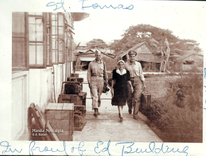 Nana Cotterman leaves her shanty for her home in Manila. (courtesy A. Butler)