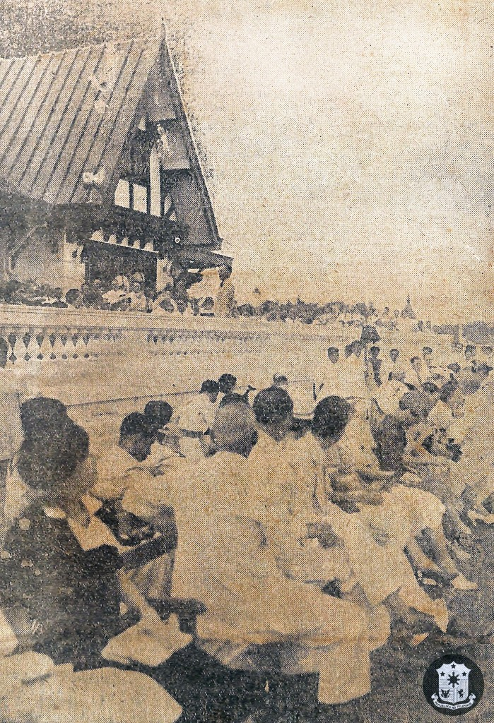 Quezon gives speech at Los Tamaraos