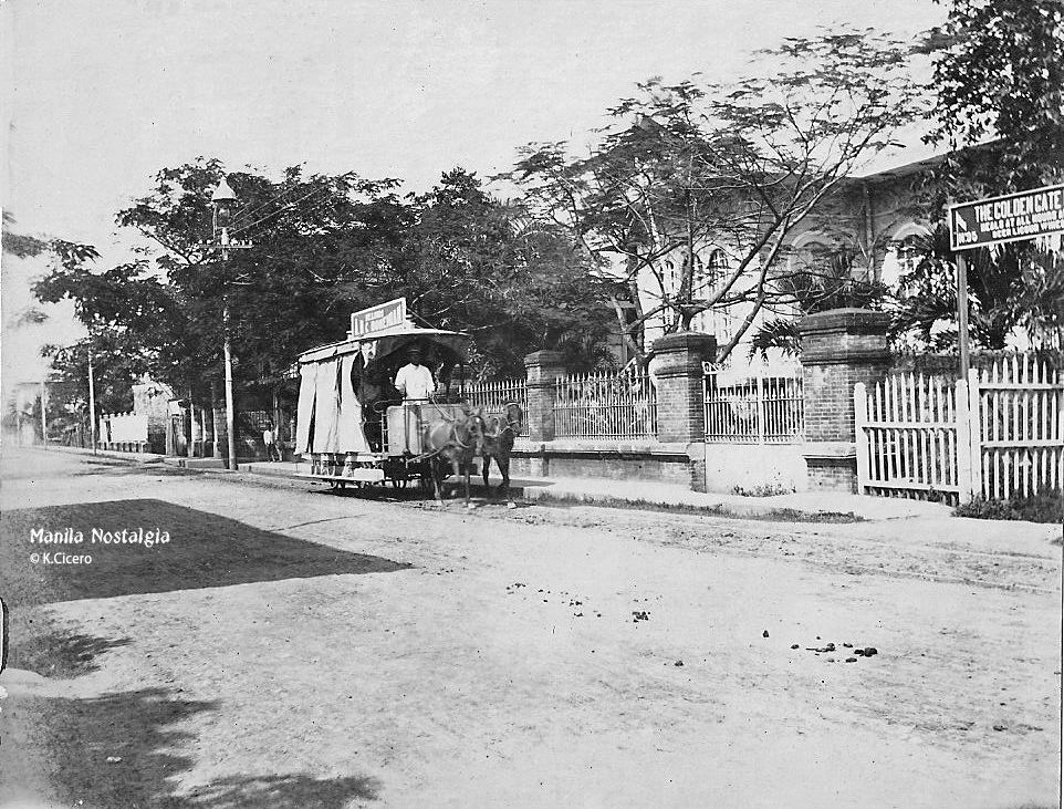 Calle Real-Horse Tranvia-Ermita-1901. (courtesy K.Cicero)