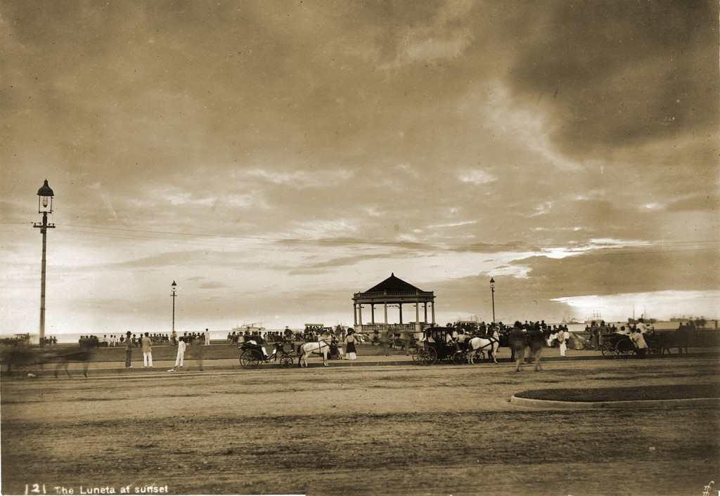 Luneta at sunset-1900-