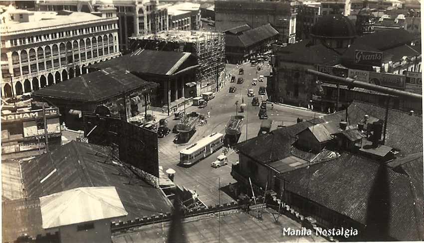 Plaza Goiti view from Great Eastern Hotel-1930s-logo
