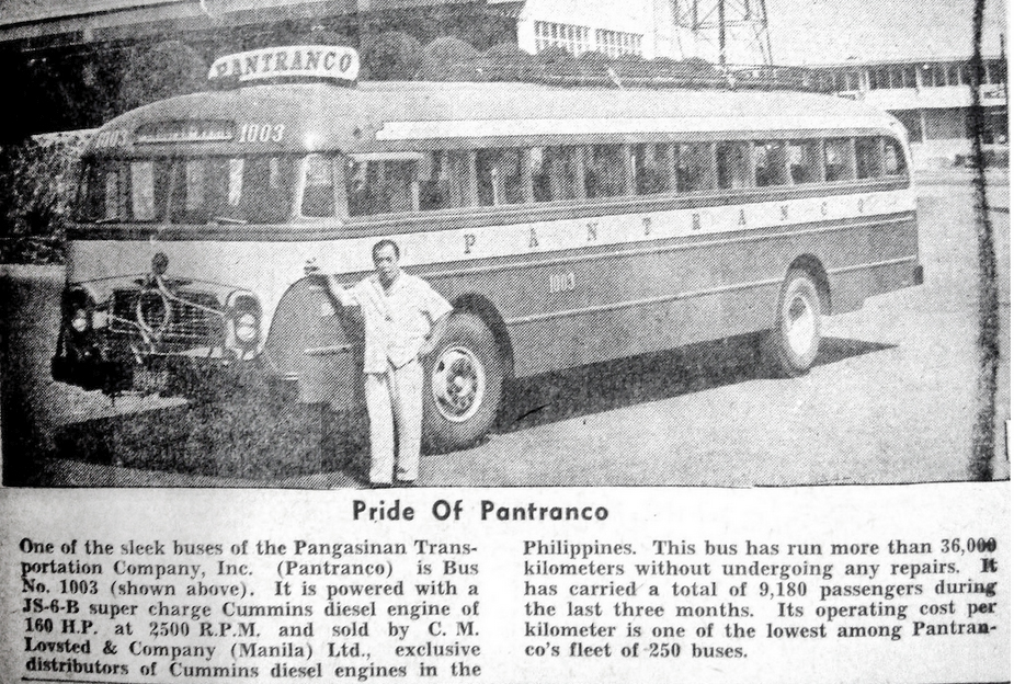 Pride of Pantranco article-1962