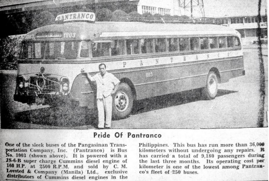 Pride of Pantranco article-1962