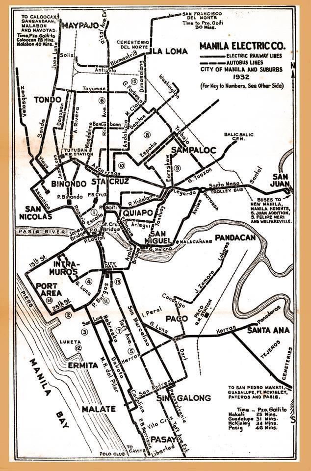 Tranvia routes (courtesy of Fred Magpayo)