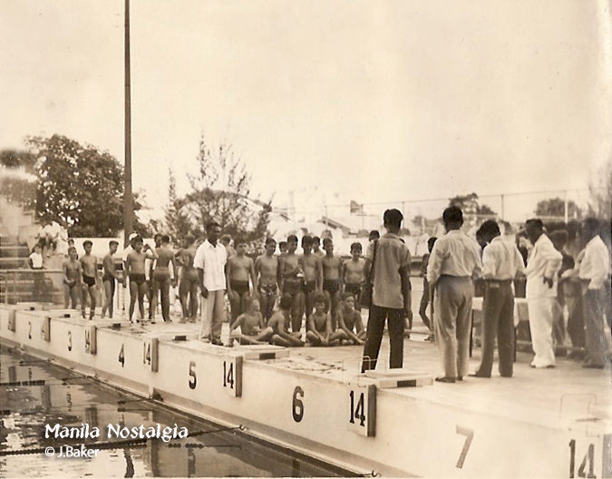 American School Swim Team at Rizal - 1952 (courtesy J.Baker)