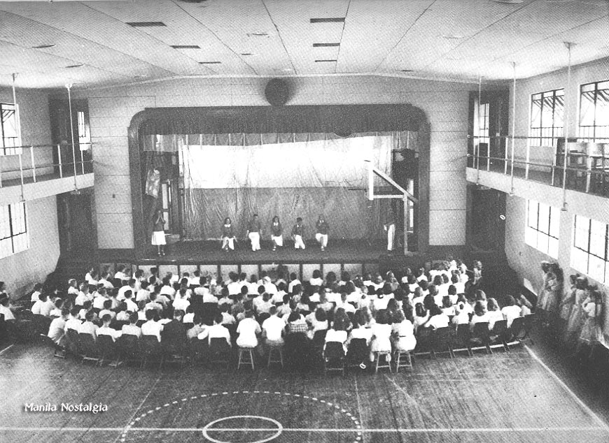 Heilbronn Gymnasium and stage - 1948