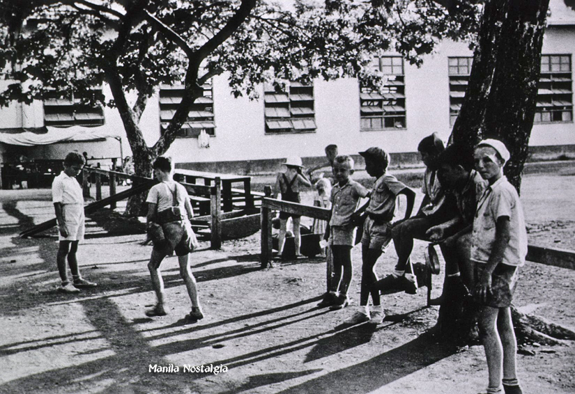 Santo Tomas Internment Camp -Children's playground near Annex -1942