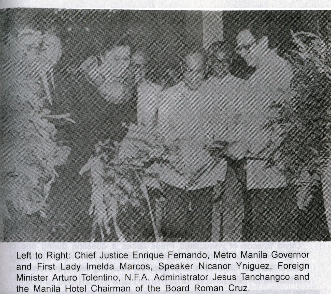 1980 Inauguration with Imelda Marcos and Board Chairman Roman Cruz.