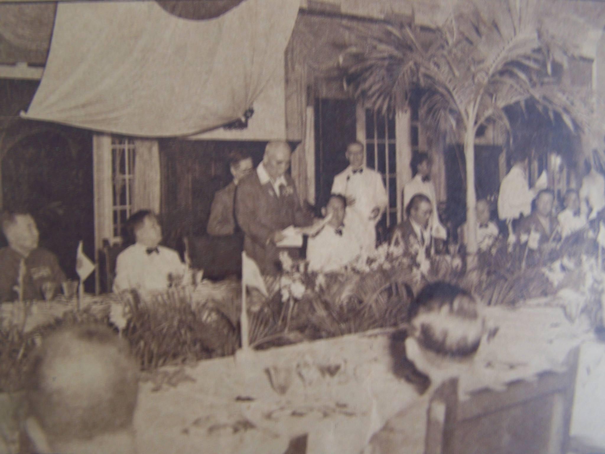 Gen.Homma celebrates Hirohito's birthday at Manila Hotel-1942