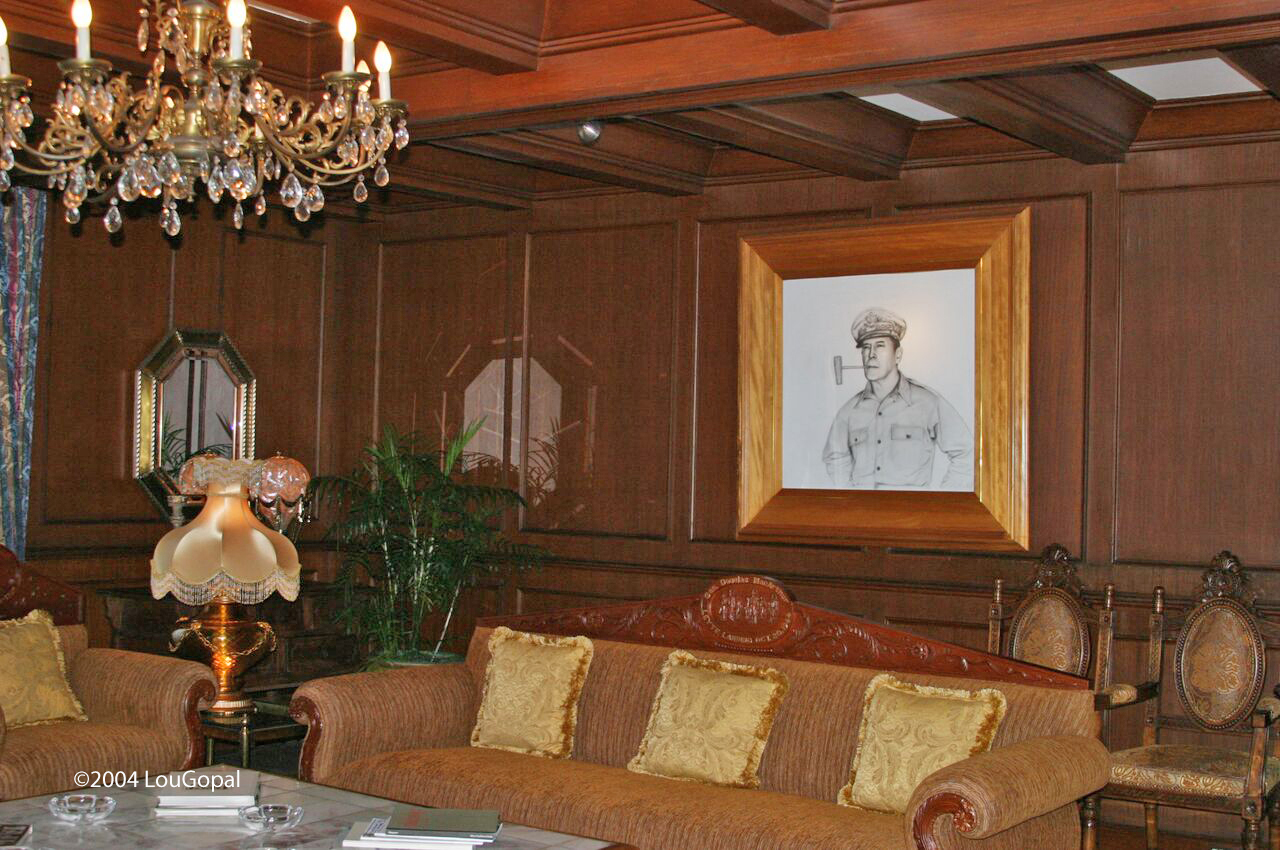 MacArthur's living room