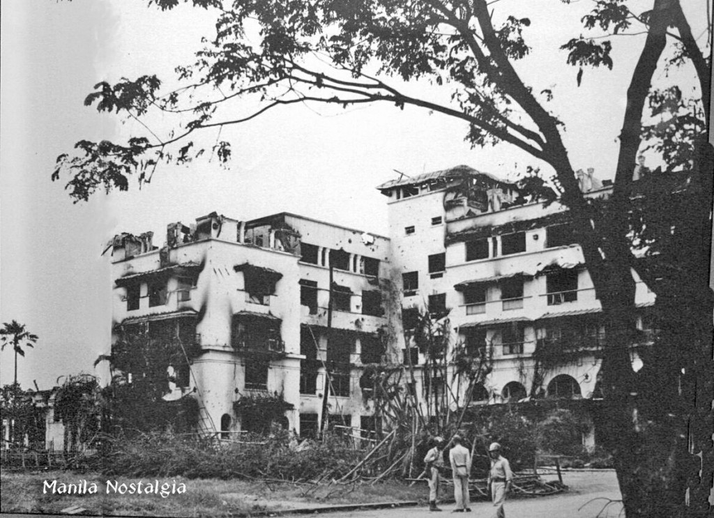 Manila Hotel after the Battle of Manila.