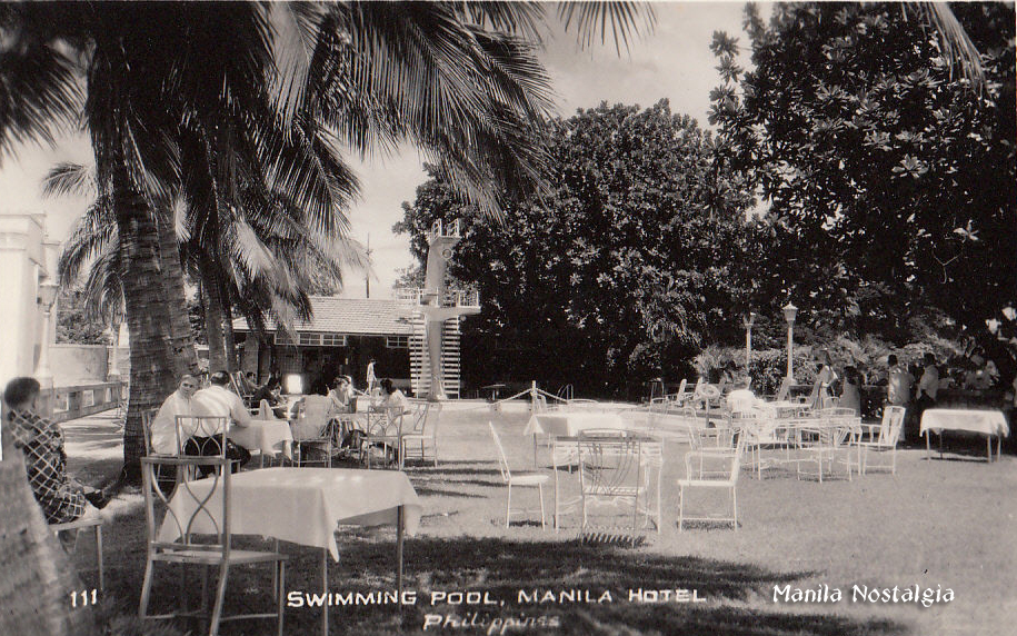 Manila Hotel swimming pool-1950s.