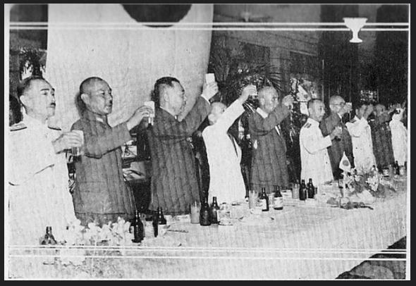 Manila Hotel-Toast to Gen. Homma