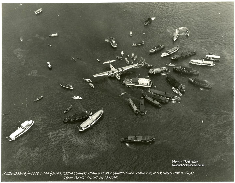 PanAm Clipper lands-Nov1935 (courtesy NASM)