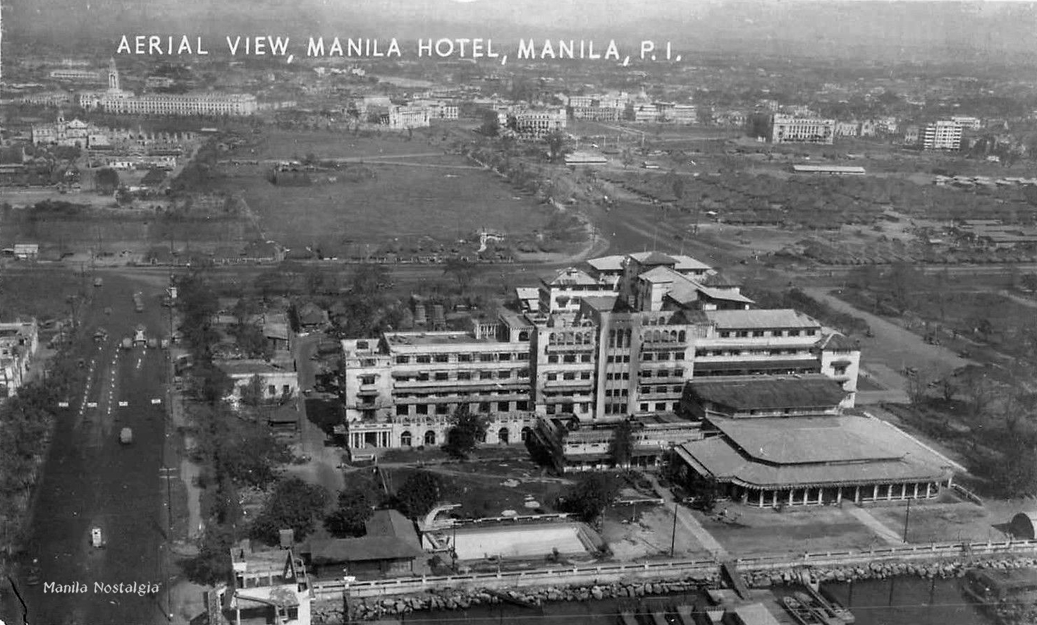 Destruction of Manila looking down Padre Burgos - 1945
