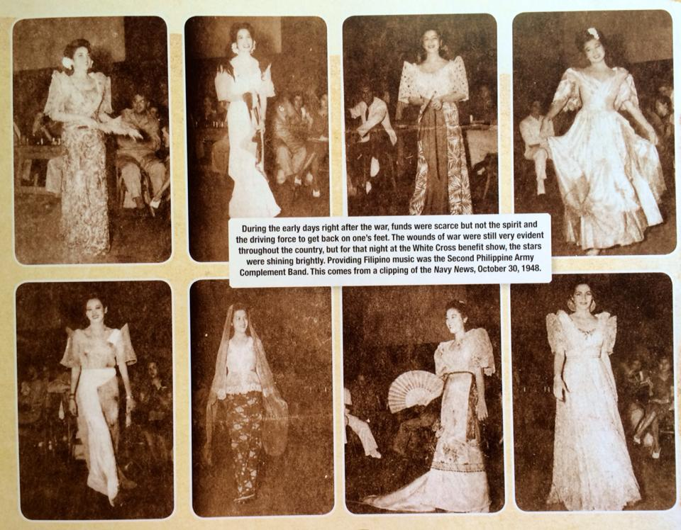 The White Cross Benefit Fashion Show in 1948 (courtesy Isidra Reyes)